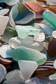 sea glass collected in New Zealand.  Photo: Dijea, via Flickr