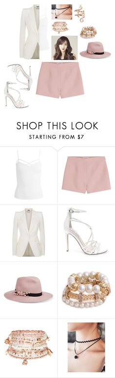 """MIestilo0367"" by paolaalbo ❤ liked on Polyvore featuring Sans Souci, Valentino, Alexander McQueen, Steve Madden, Eugenia Kim, Accessorize and Elise Dray"