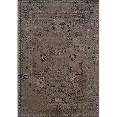 One of today's hottest trends, the over-dyed look, is replicated here in washed shades of grey and black. Encompassing the best of both worlds this rug offers high style, affordability and ease of care.