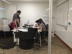 No meeting room for old men!   AppAnalytics team working hard.  https://appanalytics.io/