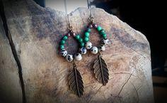 Malachite & Dalmatian Jasper Earrings