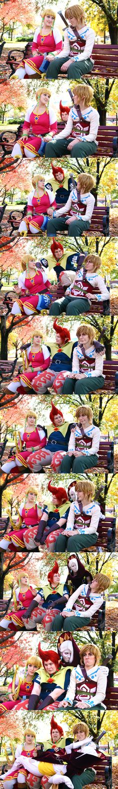 A Not So Zelda date...this is just perfect! (Link's expressions with Ghirahim!)