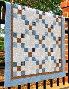 This simple baby quilt is called Pure