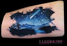 Night sky tattoo - Google search                                                                                                                                                     More
