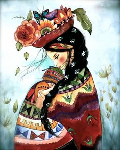 Peruvian mother inspired print di claudiatremblay su Etsy