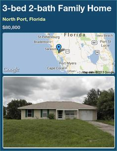 3-bed 2-bath Family Home in North Port, Florida ►$80,800 #PropertyForSale #RealEstate #Florida http://florida-magic.com/properties/22971-family-home-for-sale-in-north-port-florida-with-3-bedroom-2-bathroom