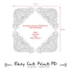 Invitación de la boda del cordón Tarjeta por EasyCutPrintPD en Etsy