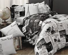 Passport by Alamode.. New Dorm Bedding!!!! It is totally sweet... Can't wait for college!!