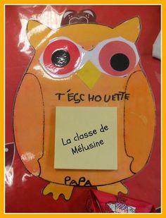 bloc post it chouette pour les papas