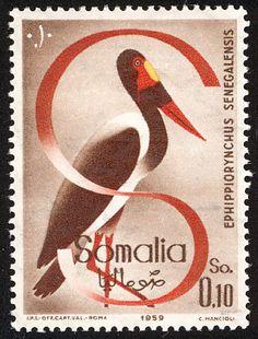Saddle-billed Stork stamps - mainly images - gallery format