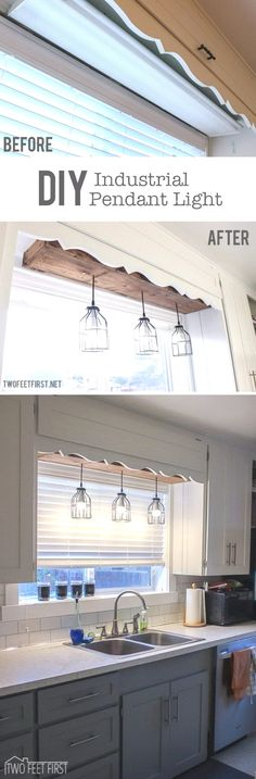 **Great idea but I'd use a longer wooden box and paint it to match the cabinets. Make the Plain Space Fun Using a ..