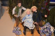 """These are the three dolls I made to go with the Piece I call """"Madame Benvenue's Secret Garden. More Pictures, Art Dolls, Sculpting, Garden, Painting, Whittling, Sculpture, Garten, Painting Art"""