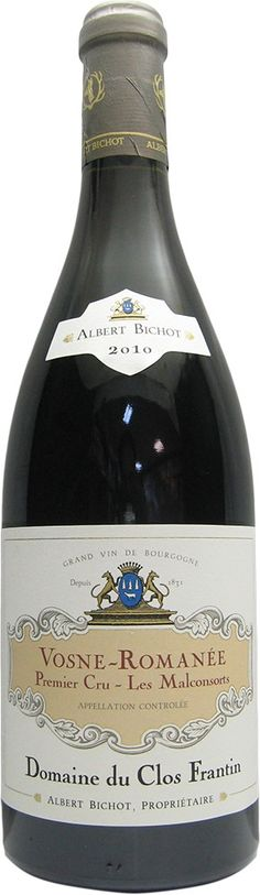 """Domaine du Clos Frantin (Albert Bichot) - Vosne-Rçomanée 1er cru """"Les Malconsorts"""" 2010 http://www.vente-privee-idealwine.com/products.php?ref=215-06"""