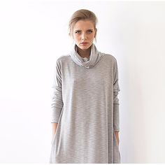 Light gray knitted dress by Blushfashion