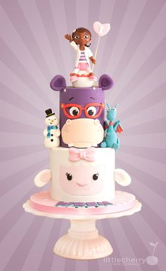 Multi gold award winning cake designer in the UK speciailising in alternative, fun and geeky bespoke wedding cakes. Little Cherry Cake Company is based in Bacup, Rossendale, Lancashire Doc Mcstuffins Cake, Doc Mcstuffins Birthday Party, Fondant Girl, Cake Fondant, Cherry Cake, Disney Cakes, Birthday Cake Girls, 2nd Birthday, Frozen Birthday