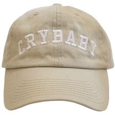 Crybaby ($20) ❤ liked on Polyvore featuring accessories, hats, fillers, caps, stone cap and cap hats