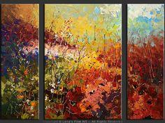 """Spring In Alps"" - Original Flower Paintings by Lena Karpinsky, http://www.artbylena.com/original-painting/20629/spring-in-alps.html"