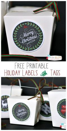 Quick Easy Creative Wrapping Ideas | Your gifts will look stylish with these free printable gift tags and labels. Grab your free download on TodaysCreativeLife.com