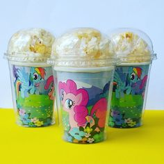 Set of 8 My Little Pony Party Cups Popcorn by PartyOnABudgett