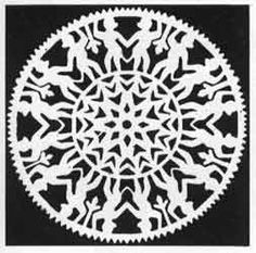 Double 8-sided figured paper cutting.