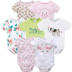 Baby Girls Layette sleepsuit 5 piece set Kitten head Love Newborn 0-3 3-6 months