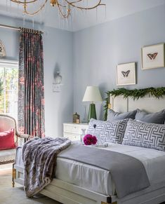 And to all a goodnight 🦋✨ Design: @valeriegarrettinteriors for the @atlantaholidayhome. Featured: Penelope Table Lamp by Alexa Hampton, Iberia Large Chandelier by Julie Neill. Photo: @dhcphoto #circalighting #atlanta #interiordesign Winter Wonderland Lights, Master Bedroom, Bedroom Decor, Bedroom Ideas, Harrison Design, Alexa Hampton, Large Chandeliers, Atlanta Homes, Cabinet Colors