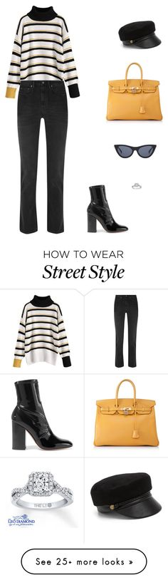 """Street Style"" by julieselmer on Polyvore featuring Acne Studios, Hermès, Valentino, Eugenia Kim and Le Specs"