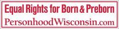Free Wisconsin personhood sticker