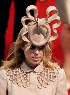 The hat worn by Princess Beatrice to the wedding of William and Kate