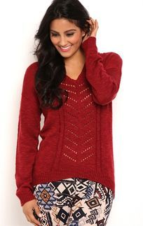 Long Sleeve Cable Knit Pullover Sweater with Hood