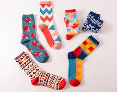 Peonfly 1pairs Funny Mens Colorful Combed Cotton Wedding Socks Wolf Fox Bomb Multi Set Dress Casual Crew Happy Socks Factory Direct Selling Price Men's Socks