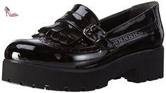 Andrea Conti 1592700, Mocassins Femme, Noir-Schwarz (Schwarz 002), 39 EU - Chaussures andrea conti (*Partner-Link)