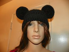 Mickey or Minnie Mouse  Hat for a Adult Hand by Susieskorner, $20.00
