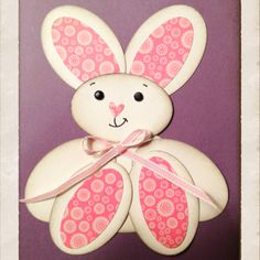 Bunny card we made for club.