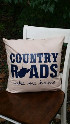 Check out this item in my Etsy shop https://www.etsy.com/listing/251887014/country-roads-pillow-cover-country-roads