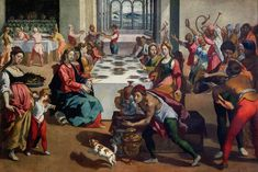 Image result for wedding of cana paintings