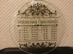 Measurement Equivalent Glass Cutting Board Kitchen Decor