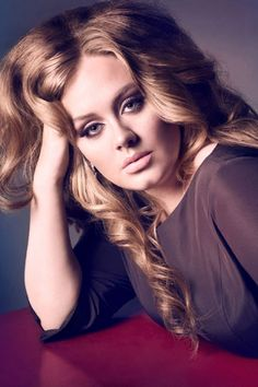 The singer Adele in Vogue UK