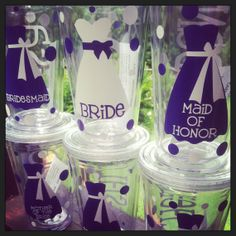 16oz Personalized Wedding Tumbler by monogramthatwithviny on Etsy, $10.00