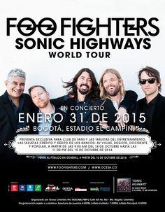 FOO FIGHTERS • Estadio El Campín - Bogotá, Colombia (31/ENE/2015)