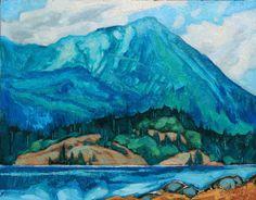 "Dominik Modlinski STONY MOUNTAIN RIDGE / Canada House Gallery - oil, board 11"" x 14"""