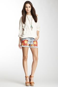 Floral Embroidered Short by Haute Hippie on @HauteLook