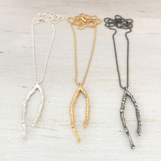 Handmade twig necklace in silver, oxidised silver and 18K gold vermeil by MayaH jewellery