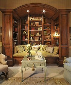 What a great spot to read and relax! #readingnook  #uniquehomefeatures homechanneltv.com