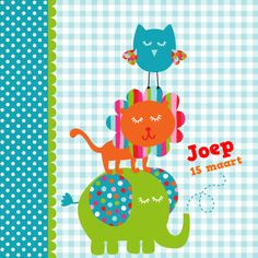 Geboortekaartje, ontwerp door dysyn www.kaartje2go.nl