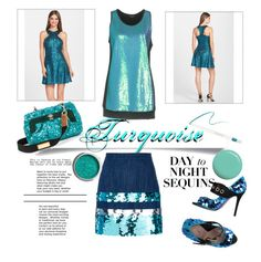 """""""Day to night sequins"""" by greensparkle1 ❤ liked on Polyvore featuring Miu Miu, Marc Jacobs, Dress the Population, LIU•JO, Sebastian Professional, Jin Soon, Givenchy and Forever 21"""