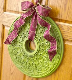 ". paint a ceiling medallion and create a beautiful ""wreath""."