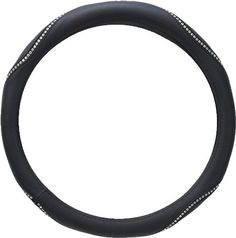 Black Leather w/ Clear Prima Bella Crystals on Black Stripe Car Truck SUV Steering Wheel Cover - Small Bright Prima Bella Crystals design. Easy slip on installation, no tools required. Summer & Winter friendly - Protects your hands from hot and cold extremes. Small size fits almost all wheels mostly sized between 13.5 inches - 14.5 inches. Unit of measure - 1 pc.  #AutomotivePartsAndAccessories