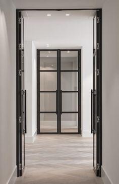 Optie deuren voor beide zijdes van de haard.