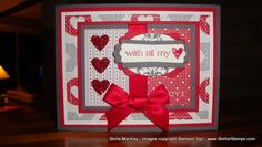 With all My Heart handmade Valentine card
